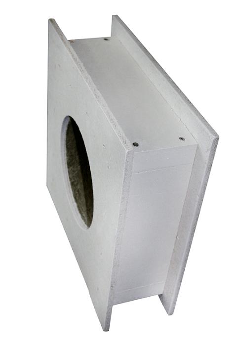 PRZEPUST ŚCIENNY 400mm DO  KOMINA  130-200mm